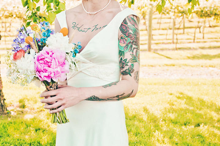 Ashley Holt on her wedding day.