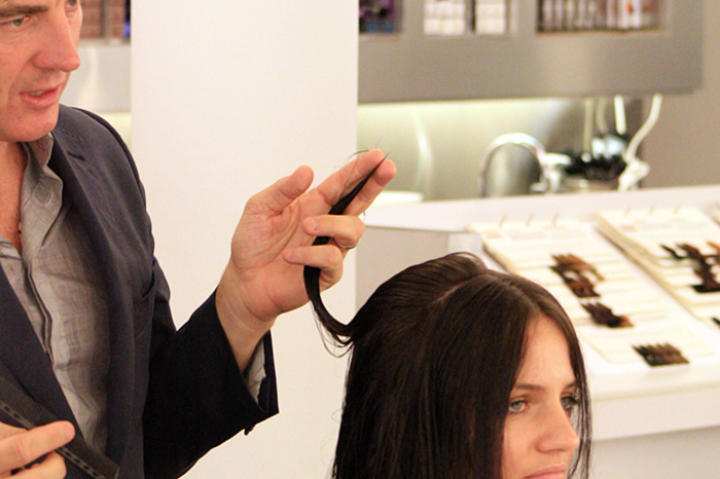Kate experiences the luxury of having her hair cut and styled at a professional salon.
