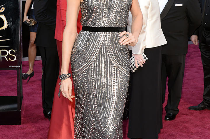 Stacey Keibler in Naeem Khan at the Oscars