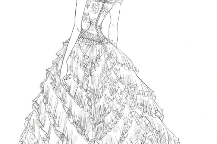 The back of Kelly's sketch for the