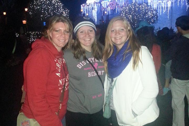Meri, Mariah, and Aspyn at Disneyland last Christmas. Meri shared her special recipe for