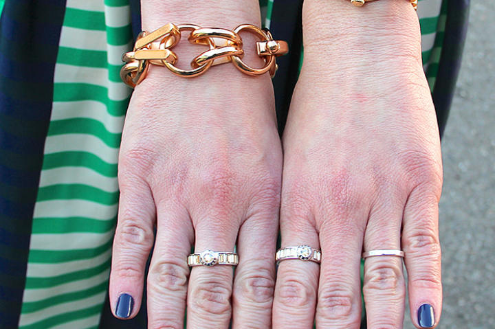 Set Silver Rings and Turquoise Ring by