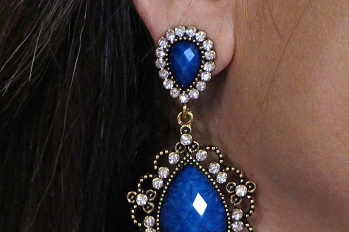 Blue Drop Earrings by