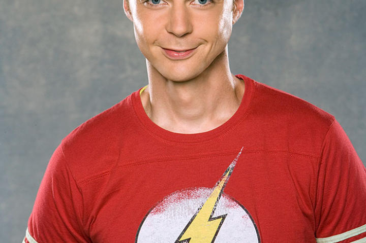 "Jim Parsons poses for a photo shoot in 2008 to promote ""The Big Bang Theory""."