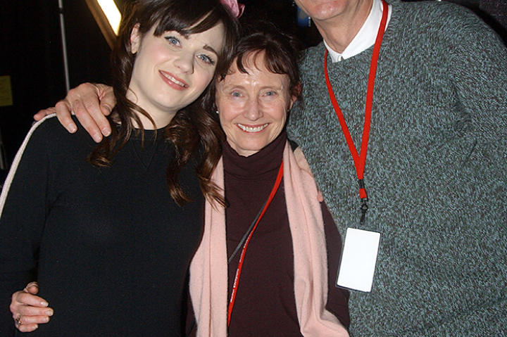 Zooey Deschanel with her parents, Mary Jo and Caleb at the 2004 Sundance Film Festival.
