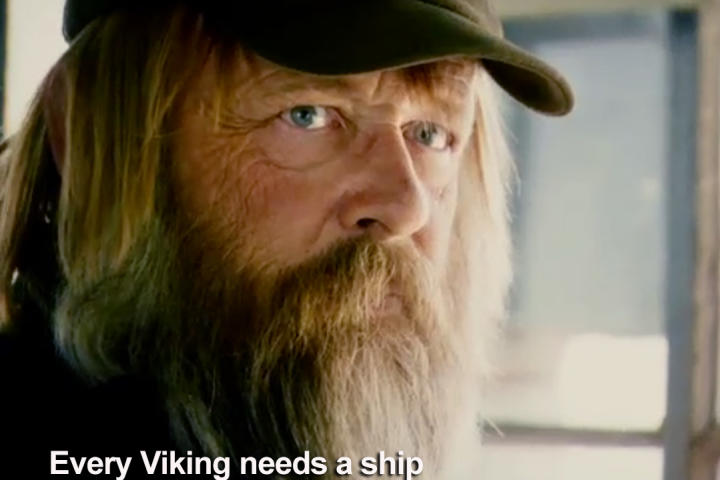 This season on Gold Rush, The Viking is pursuing his dream of getting an old dredge up and running, and he's not gonna let anything stop him.