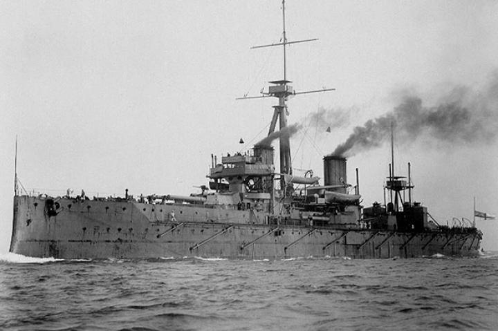 After the unification of Germany following the Franco-Prussian War of the early 1870s Wilhelm II entered an arms race with Great Britain, specifically by trying to build a navy that could rival the British and challenge their hegemony of the world's seas. The HMS Dreadnought, pictured, took the race to another level due to its superiority in terms of massed firepower and because of its use of steam turbines. So influential was this ship that she defined a new class of battleship, the dreadnought.
