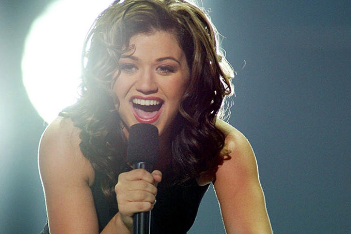 Kelly Clarkson appears on stage during the finale of