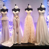 Get an exclusive look at new wedding fashion right off the runway at B