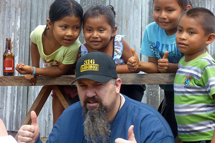 Todd Hoffman and some friends in Guyana.