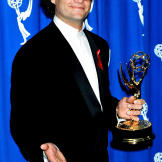 Kelsey smiles in the press room during the 1993 Emmy Awards. Throughou