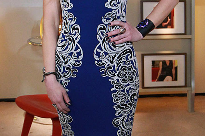 Blue Embroidered Dress by BCBG