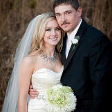 Lindsay and Coty on their wedding day. Photo by