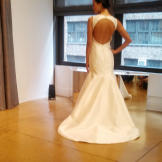 """This Judd Waddell gown has a keyhole back. """"Heavy silk mikado hol"""