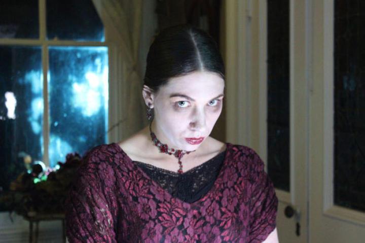 This Victorian ghost definitely brings on the heebie-jeebies.