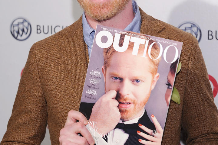 "Jesse smiles at the 2011 OUT celebration of The OUT100, an annual list that recognizes ""the most compelling people of the year."" He married Justin Mikita, a lawyer, producer and activist, in the fall of 2013."