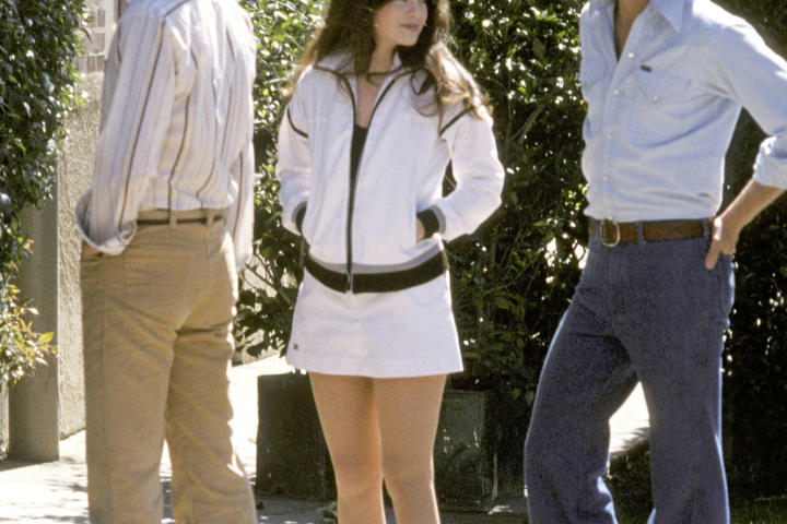 """Valerie joins Shaun Cassidy and Parker Stevenson on the set of """"The Hardy Boys"""" in 1978. She went on to star in three feature films later in her career."""