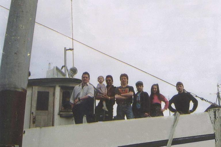 Want to know what it's like growing up in the Alaskan bush? Take a look back at the Brown's family photos to see how the kids have grown over the years. Next up: Matt and Bam Bam as toddlers! Pictured above are the Brown children standing atop Billy's fishing boat. From left to right: Gabe, Rainy, Matt, Bam Bam, Noah, Birdy, and Bear Brown.