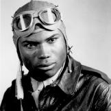 "Howard A. Wooten, WWII fighter pilot, of the  332nd Fighter Group ""Tuskegee Airmen"" December 1944."