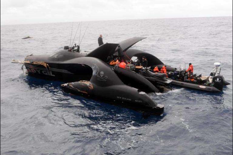The Sea Shepherd Conservation Society, which owns the Ady Gil and the Institute of Cetacean Research, the Japanese group that carries out the hunts, disagreed on who was responsible for the crash.