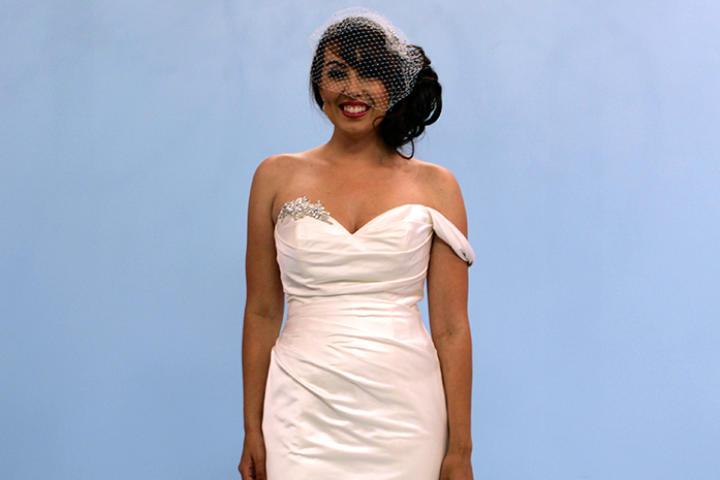 California bride Krystal chose this