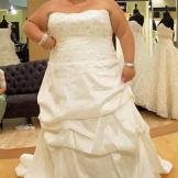 Christy wears 2 Be Bride Style Sabrina.  Fabric: memory taffeta/beaded