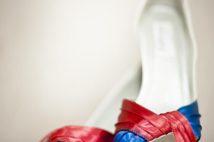 Jenn's red, white and blue shoes.