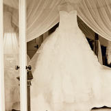 Katherine's wedding dress.
