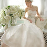 Victoria Nicole's gown No. 803 with sweetheart neckline, priced at $4,