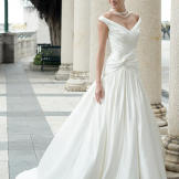 Augusta Jones's Anya gown with plunging neckline, priced at $2,256.