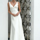 Augusta Jones's Judy gown with plunging neckline, priced at $1,932.