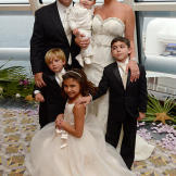 The Valastro family at the vow renewal ceremony: Buddy, baby Carlo, Li
