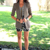 A lightweight summer blazer adds style, and can easily be removed as