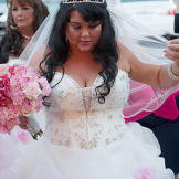Louann is a blushing bride marrying her man -- Patbaby -- for the second time!