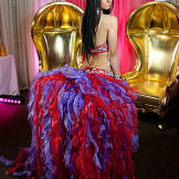 Priscilla wows at the ball with her jaw-dropping dress.