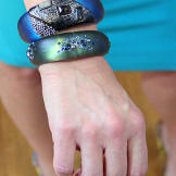 These unique cuffs are the perfect look for summer, adding pops of blu