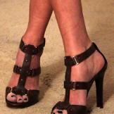 Brown heeled sandal by Jimmy Choo/jimmychoo.com