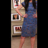Dress by Gryphon NY/gryphon-ny.com and pumps by Nicholas Kirkwood/nich