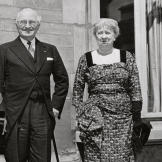 first-lady-fashion Harry and Bess Truman Meeting with King Baudouin
