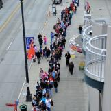 Deadliest Catch fans line the street waiting to enter the 2010 CatchCo