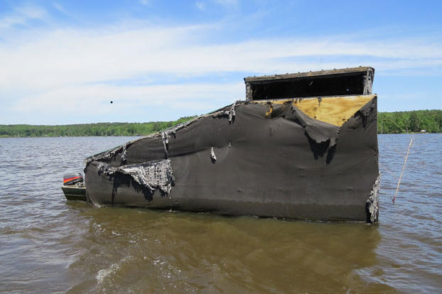 If you're lucky, your bayou home will come with a duck blind for hunting. But watch out for giant spiders that may also call the duck blind home.