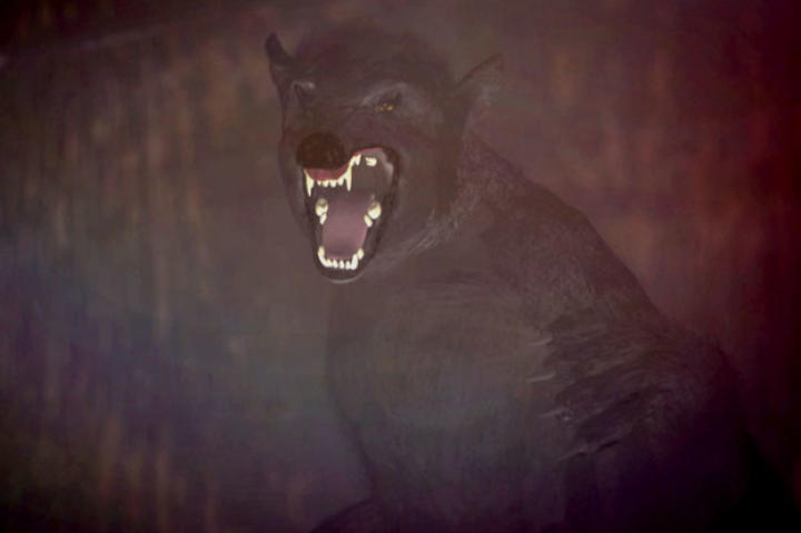 The Kentucky Wolfman is a dangerous predator that likes to hunt on farmlands. Weighing over 400 pounds, it has a dark, thick coat and walks on its two hind legs, standing nearly 7 feet tall.