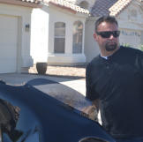 Steve Simons arrives to inspect a new property.