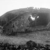Disabled tank at Gaza towards the end of World War I. Watch video of the