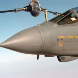 In this photo taken in January 2005 a Royal Air Force GR4 Tornado refuels during Operation Iraqi Freedom.