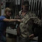 Phred speaks with Ken at Wild West Guns.