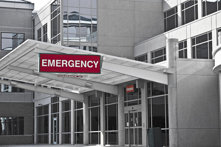 Entrance to an emergency room