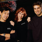 Grant Imahara, Kari Byron and Tory Belleci began filming