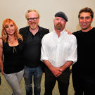 Grant, Kari, Adam, Jamie and Tory gathered backstage before their MythBusters Comic Con panel in 2011.