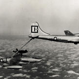 An RB-45C Tornado being refueled by a Boeing KB-29P Superfortress.